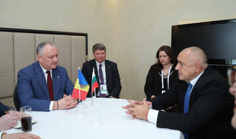 Премиерът Бойко Борисов разговаря с президента на Молдова Игор Додон