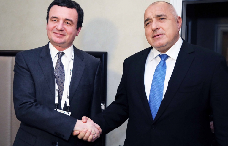Министър-председателят Бойко Борисов се срещна с премиера на Република Косово Албин Курти